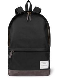 Thom Browne - Suede-trimmed Nylon Backpack - Lyst