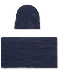 William Lockie - Ribbed Cashmere Beanie And Scarf Set - Lyst