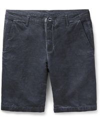 Massimo Alba - Vela Slim-fit Watercolour-dyed Linen And Cotton-blend Shorts - Lyst