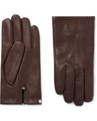 Mulberry - Cashmere-lined Leather Gloves - Lyst