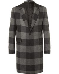 Casely-Hayford - Wentworth Checked Wool Overcoat - Lyst