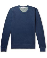 Orlebar Brown - Pierce Mélange Loopback Cotton-jersey Sweatshirt - Lyst