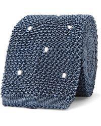 Boglioli - 6cm Polka-dot Knitted Silk Tie - Lyst