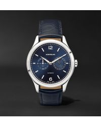 Montblanc - Heritage Chronométrie Twincounter Date Automatic 40mm Stainless Steel And Alligator Watch - Lyst