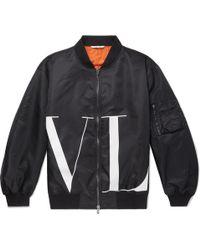 Valentino - Oversized Logo-print Shell Bomber Jacket - Lyst