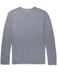 Derek Rose - Long-sleeved Stretch Micro Modal Jersey T-shirt - Lyst