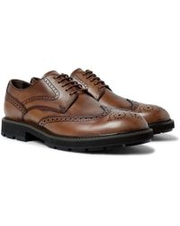 Tod's - Leather Wingtip Brogues - Lyst