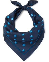 Blue Blue Japan - Printed Silk-twill Bandana - Lyst