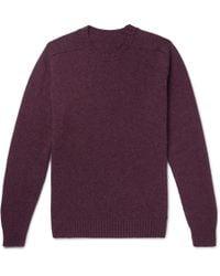 Anderson & Sheppard - Shetland Wool Sweater - Lyst