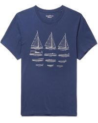 J.Crew - Printed Cotton-jersey T-shirt - Lyst