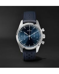 Zenith - Chronomaster Heritage 146 Automatic Chronograph 38mm Stainless Steel And Leather Watch - Lyst
