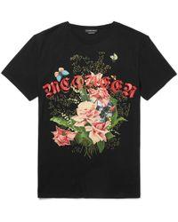 Alexander McQueen - Oversized Printed Cotton-jersey T-shirt - Lyst