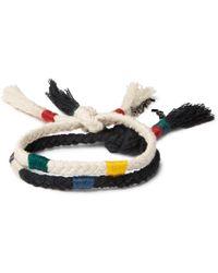 Saint Laurent - Two-pack Cotton-cord Wrap Bracelets - Lyst