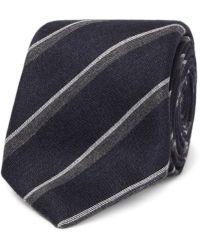 Canali - 8cm Striped Silk And Cashmere-blend Tie - Lyst