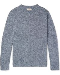 J.Crew - Slim-fit Mélange Recycled Denim Jumper - Lyst