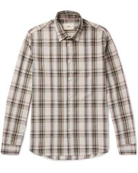 Folk - Storm Checked Cotton Shirt - Lyst
