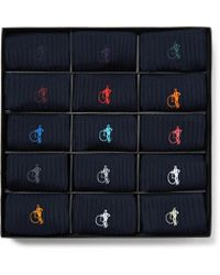 London Sock Co. - The Solid Sartorial 15-pack Ribbed Stretch Cotton-blend Socks - Lyst