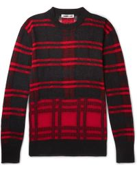 McQ - Checked Linen-blend Sweater - Lyst