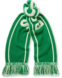 The Elder Statesman - - Nba Celtics Fringed Intarsia Cashmere Scarf - Forest Green - Lyst