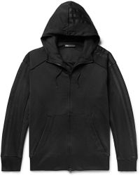 140edc88b376 Y-3 - Embroidered Printed Cotton-jersey Zip-up Hoodie - Lyst