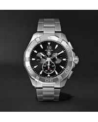 Tag Heuer - Aquaracer Chronograph Quartz 43mm Steel Watch - Lyst