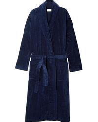 Derek Rose Cotton-terry Robe - Blue