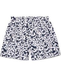 Sunspel | Oak Leaf Printed Cotton Boxer Shorts | Lyst