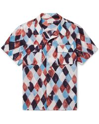 You As - Arlo Camp-collar Printed Woven Shirt L - Lyst