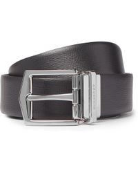 Burberry - 3.5cm James Reversible Black And Brown Cross-grain Leather Belt - Lyst