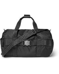 Versace - Logo-embellished Nylon Duffle Bag - Lyst