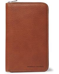 Brunello Cucinelli - Burnished Full-grain Leather Zip-around Wallet - Lyst