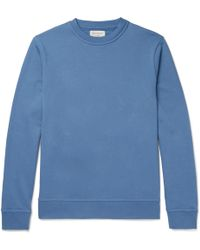 Oliver Spencer - Harris Cotton-jersey Sweatshirt - Lyst