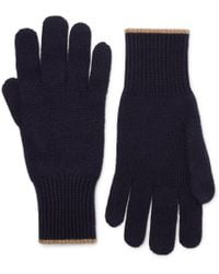 Brunello Cucinelli - Contrast-tipped Cashmere Gloves - Lyst