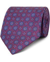 Charvet - 7.5cm Printed Silk-faille Tie - Lyst