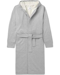 Reigning Champ - Loopback Cotton-jersey Hooded Robe - Lyst