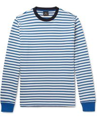 PS by Paul Smith - Striped Loopback Cotton-jersey Sweatshirt - Lyst