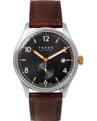 Farer - Frobisher Ii Stainless Steel And Leather Watch - Lyst