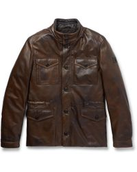 Tod's - Leather Field Jacket - Lyst