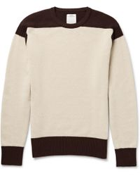 Visvim - Isles Two-tone Wool And Cashmere-blend Sweater - Lyst