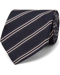 Tom Ford - 8cm Striped Knitted Silk Tie - Lyst