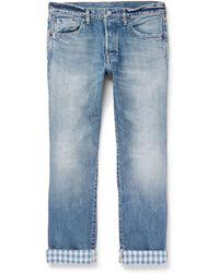 Fabric-Brand & Co. - Hai Slim-fit Distressed Selvedge Denim Jeans - Lyst