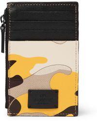 Valentino - Garavani Camouflage-print Leather And Canvas Zipped Cardholder - Lyst