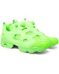 Vetements - + Reebok Instapump Fury Neon Slip-on Sneakers - Lyst