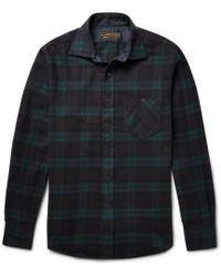 Freemans Sporting Club - Hopkins Black Watch Checked Cotton-flannel Shirt - Lyst