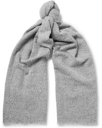 J.Crew | Fringed Mélange Wool-blend Scarf | Lyst