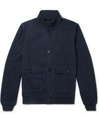 Aspesi - Washed-cotton Jacket - Lyst