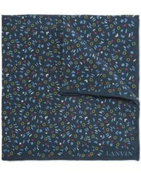Lanvin - Printed Silk Pocket Square - Lyst