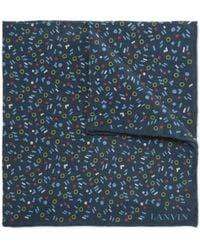 Lanvin | Printed Silk Pocket Square | Lyst