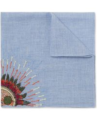 Paul Smith   Embroidered Cotton Pocket Square   Lyst