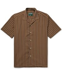 Gitman Brothers Vintage - Camp-collar Striped Cotton And Silk-blend Shirt - Lyst